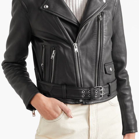 IRO Womens Jacket BLACK / 36 IRO | Illusive Biker Jacket - Black