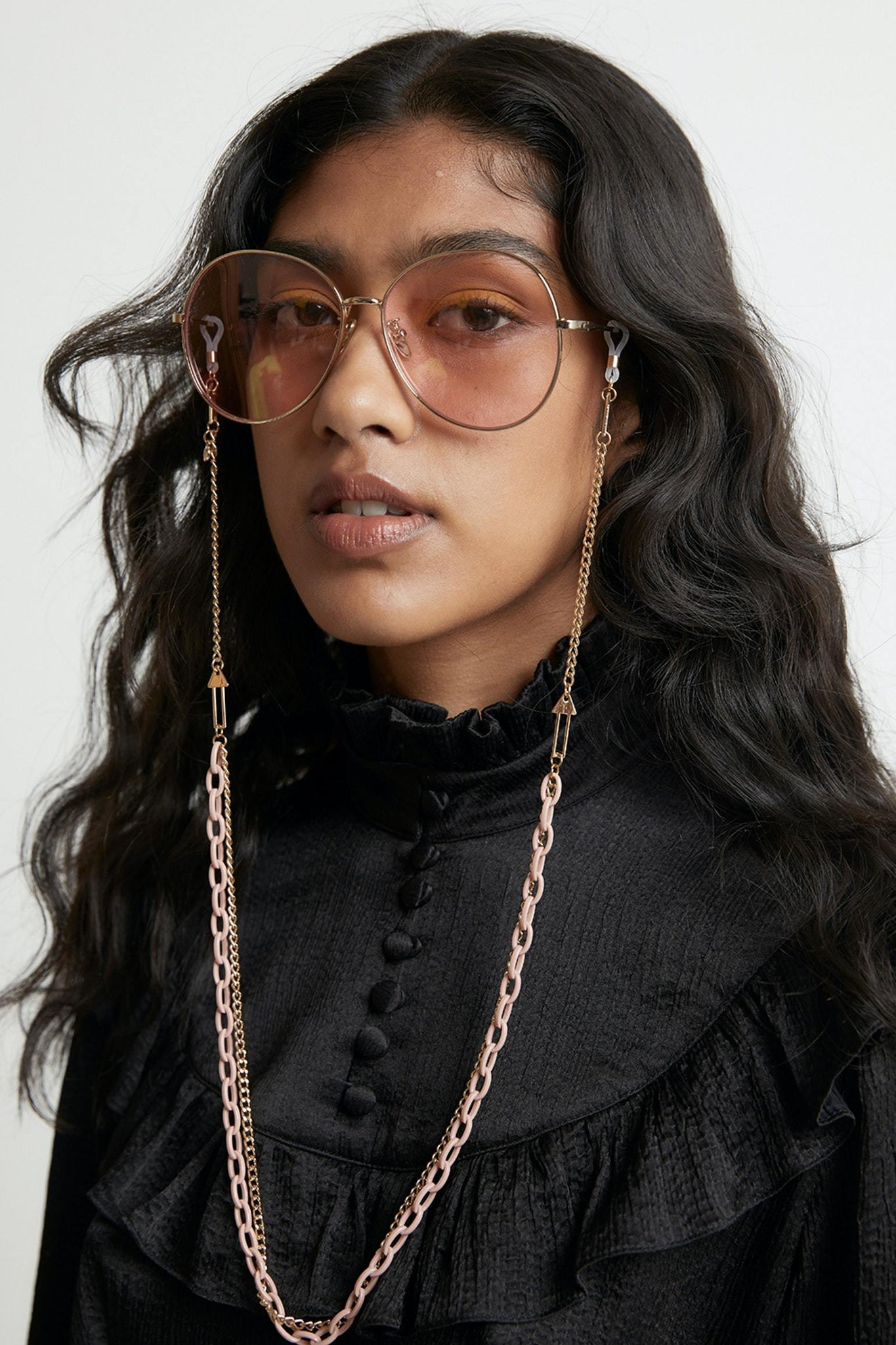 SUNSHADES EYEWEAR NZ ACC PUTTYGLD Karen Walker | Arrow Combo Eyewear Chain - Putty / Gold