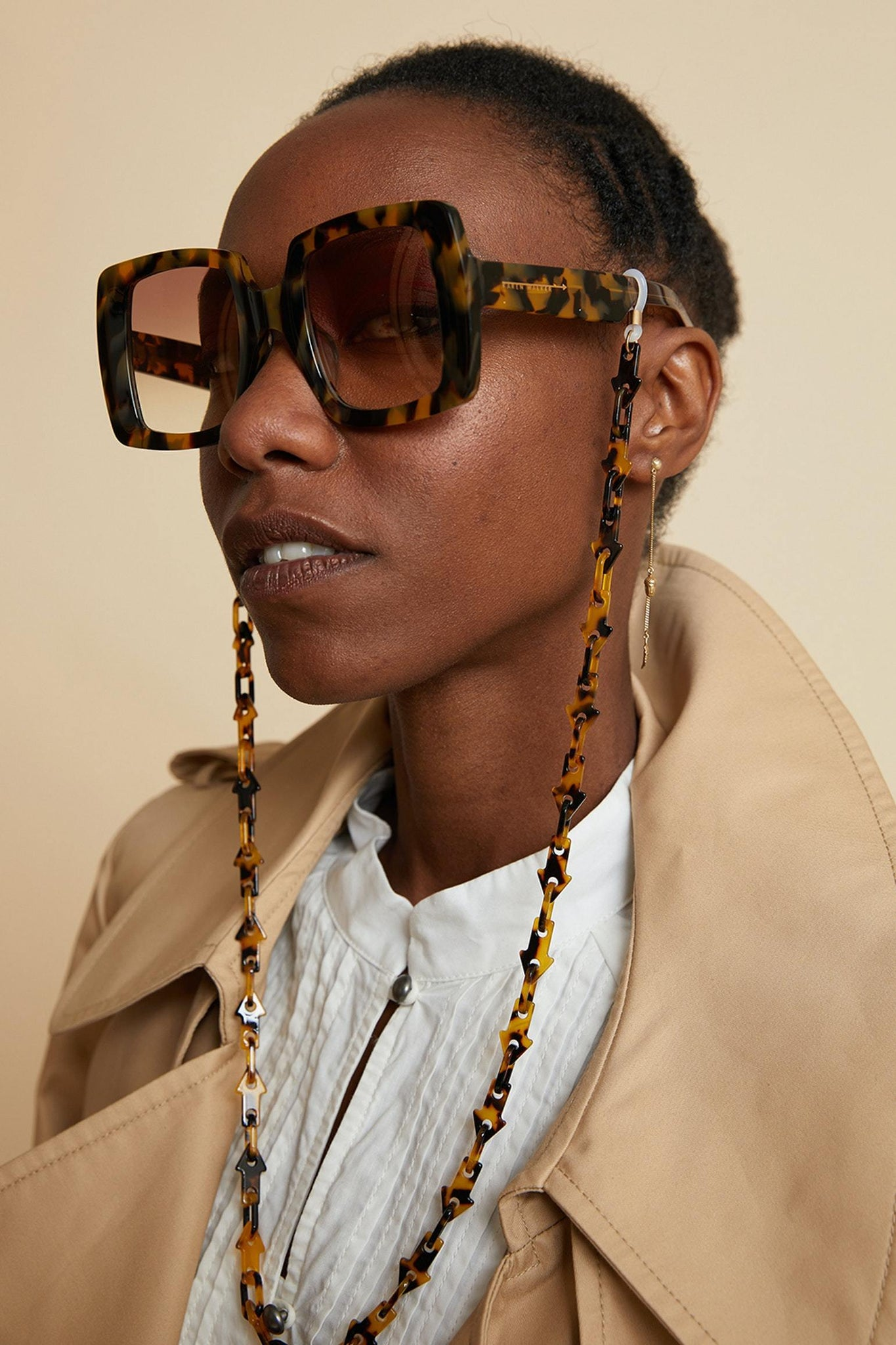 SUNSHADES EYEWEAR NZ ACC CRZYTORT Karen Walker | Arrow Link Eyewear Chain - Crazy Tort