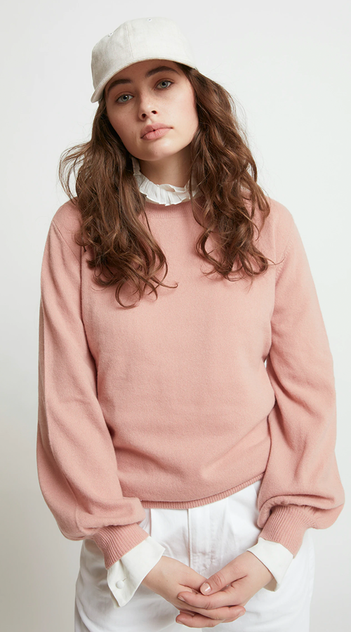 Karen Walker | Pattie Bell Sleeve Sweater - Dusty Pink