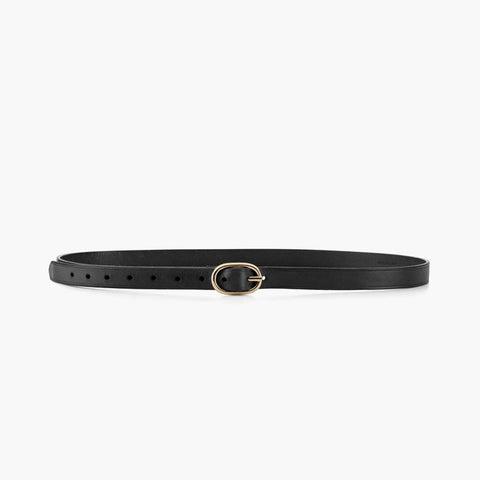 Deadly Ponies | Slim Belt - Black
