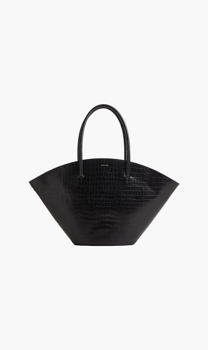 Anine Bing BAG BLKCROC Anine Bing | Holland Bag - Black