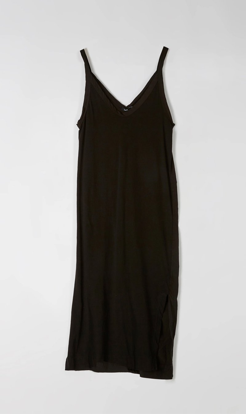Bassike Womens Dress Bassike | V Neck Camisole Tank Dress - Black
