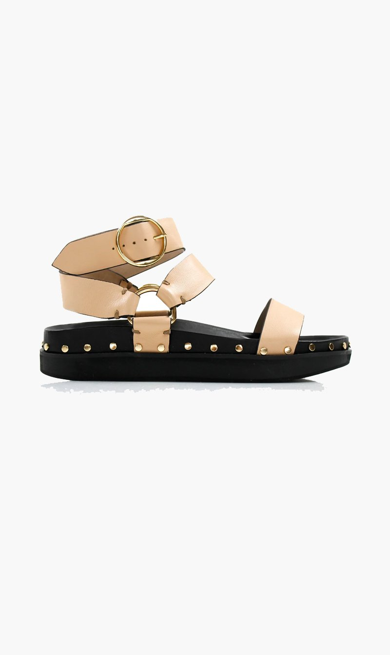Summer Supply Ltd SHOE La Tribe | Studded Sandal - Blush II