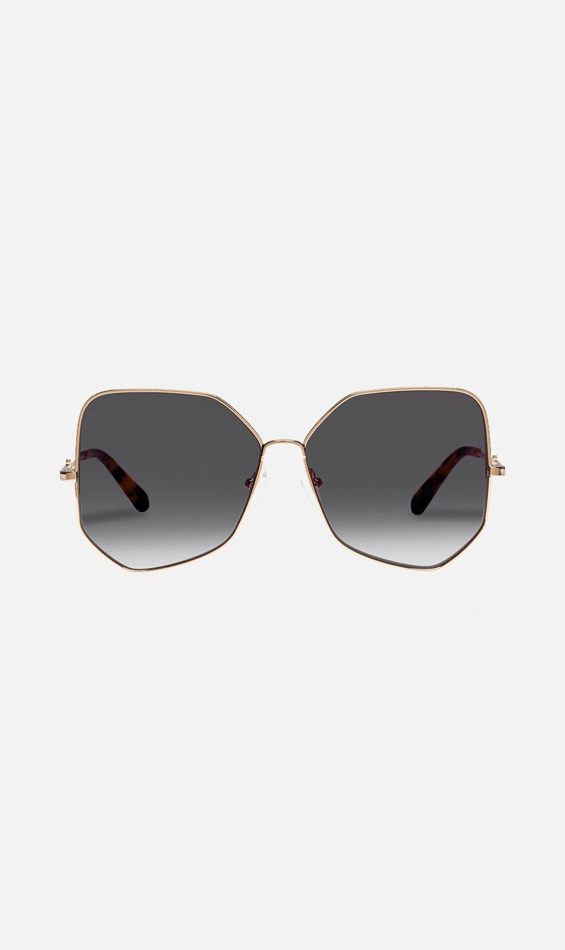 KAREN WALKER Eyewear BRTGOLD Karen Walker | Black Diamond - Bright Gold