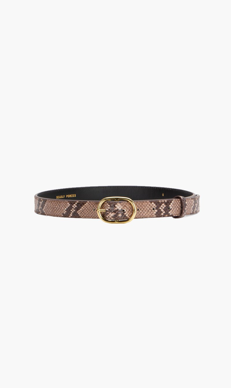 DEADLY PONIES BAG Deadly Ponies | Midi Belt - Python