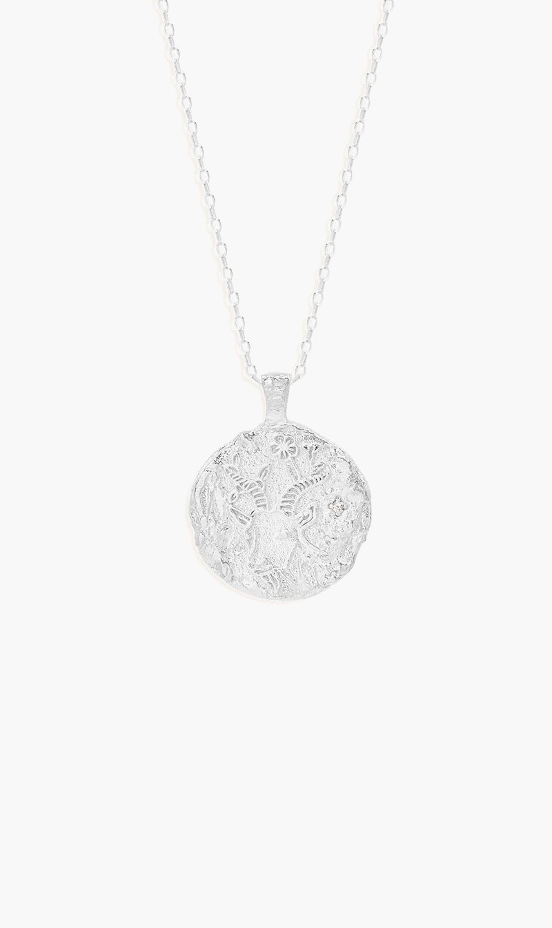 By Charlotte Jewellery SILVER By Charlotte | Capricorn Zodiac Necklace - Silver
