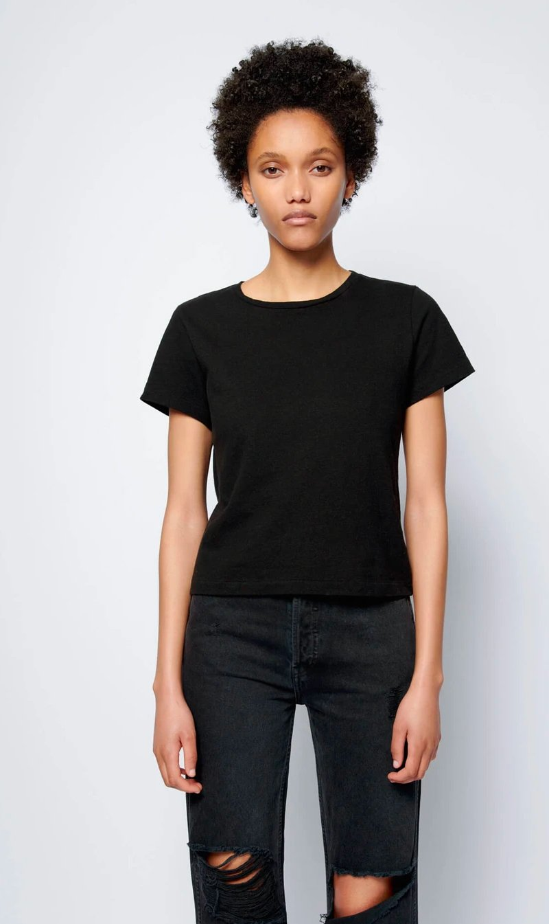 Re Done Womens T Shirt RE/DONE | Classic Tee - Black