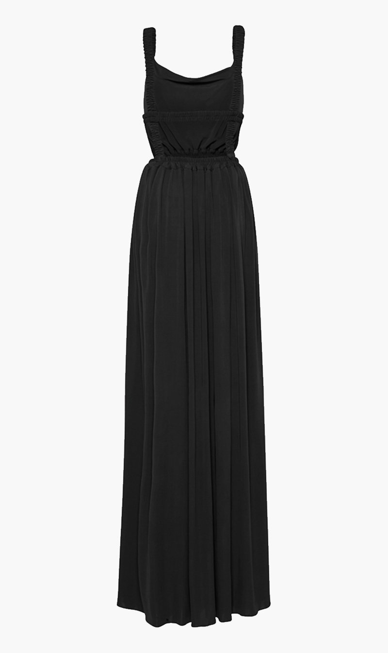 Matteau Womens Dress Matteau | Cowl Dress - Black