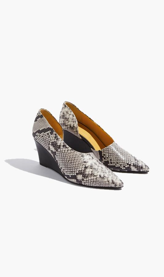 Bassike SHOE Bassike | Cut Out Wedge - Python