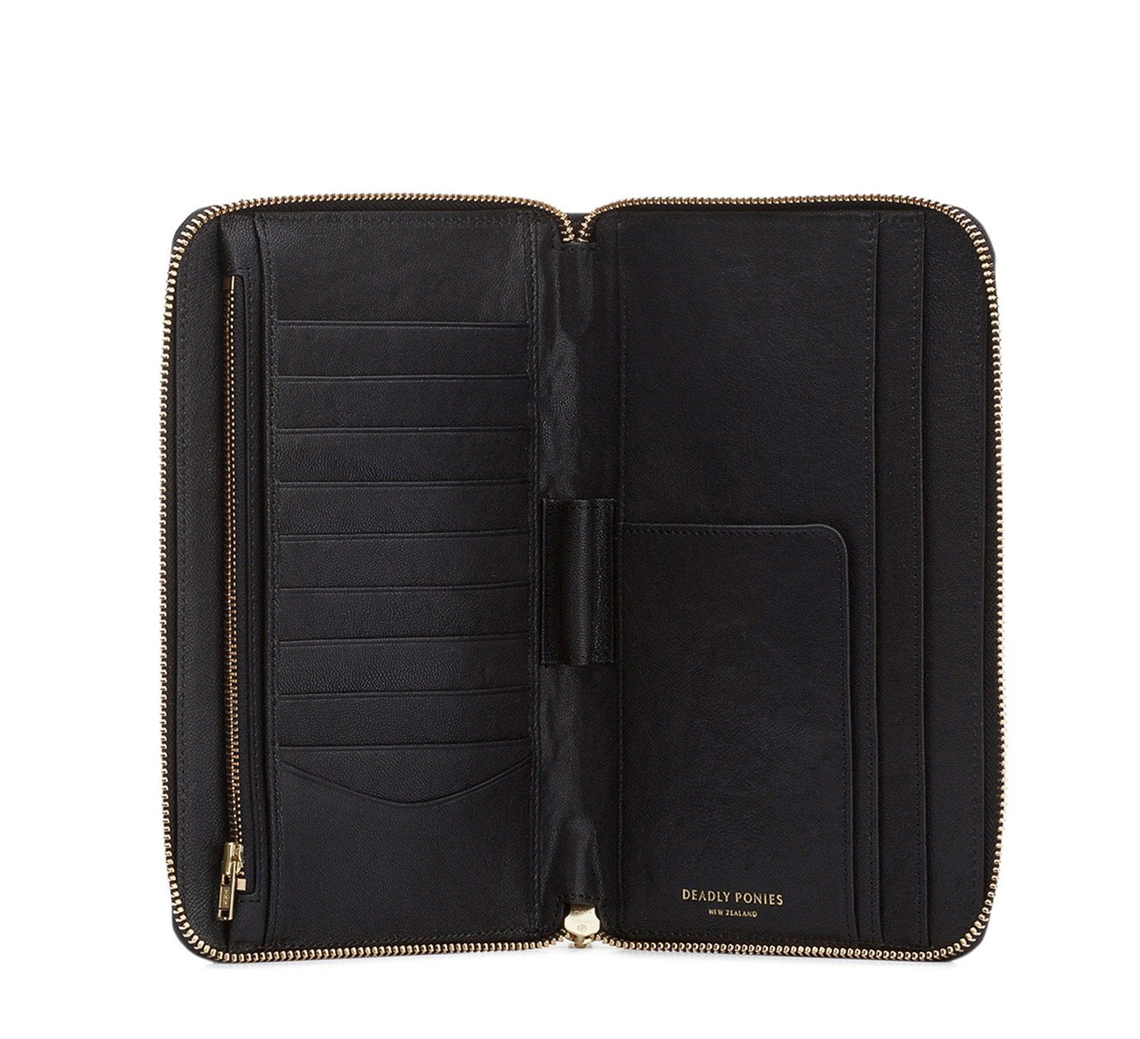 DEADLY PONIES ACC BLACK Deadly Ponies | Mr Travel Wallet - Black