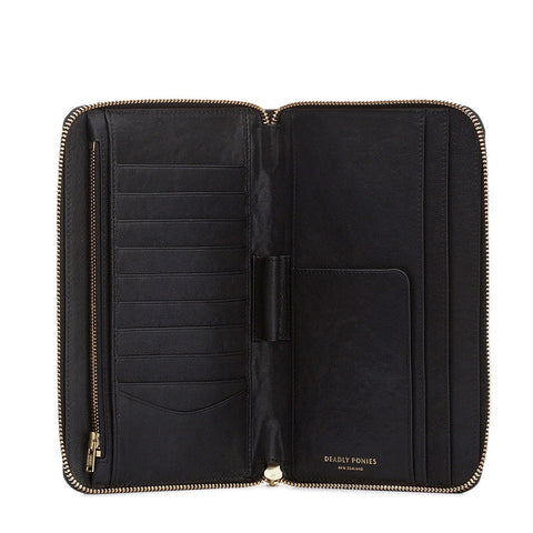 Deadly Ponies | Mr Travel Wallet - Black