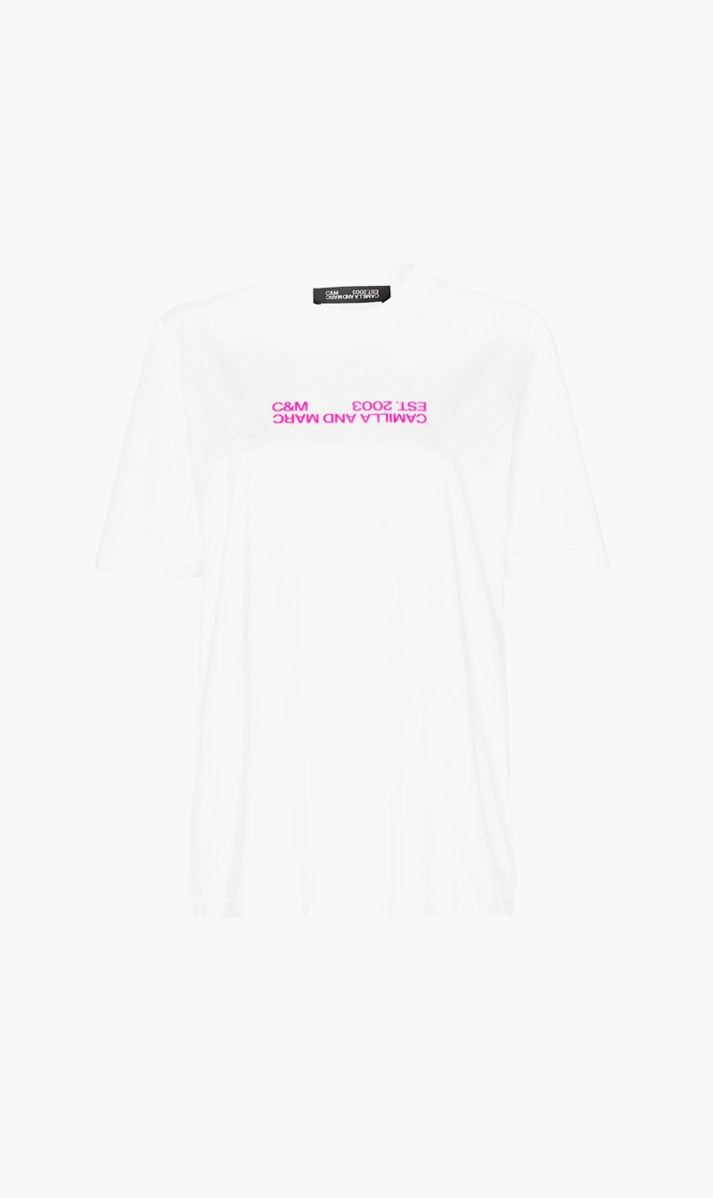 Camilla and Marc Womens T Shirt C&M | Emil Logo Tee - White