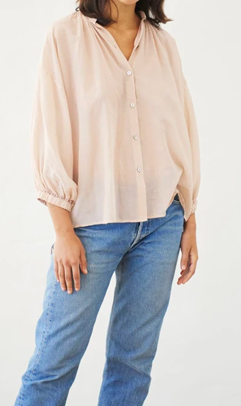 Mahsa Limited Womens Tops Mahsa | Everyday Blouse - Nude