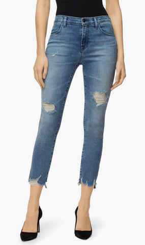 J Brand | Alana High Rise Cropped Skinny Jeans - Fix Up Destruct
