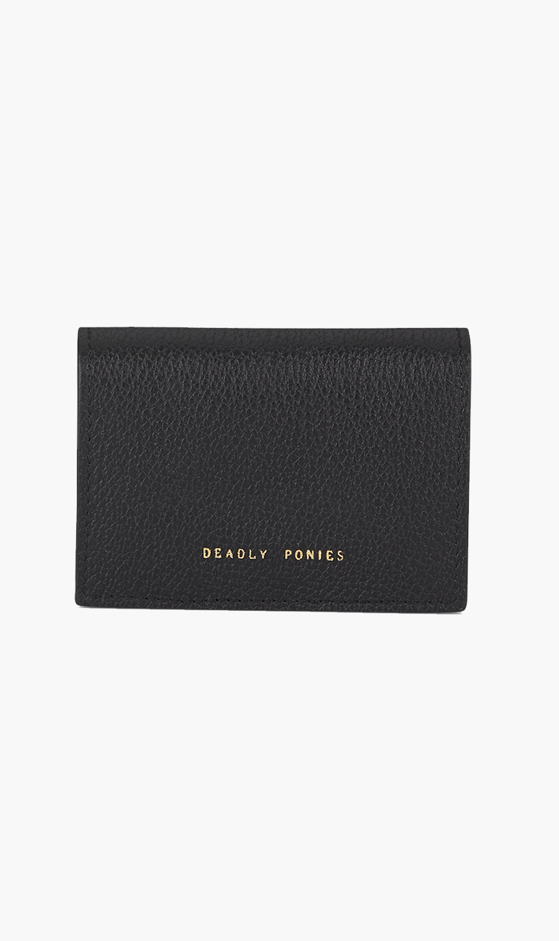 DEADLY PONIES ACC BLACK DEADLY PONIES | Flip'n'Snap Wallet - Black