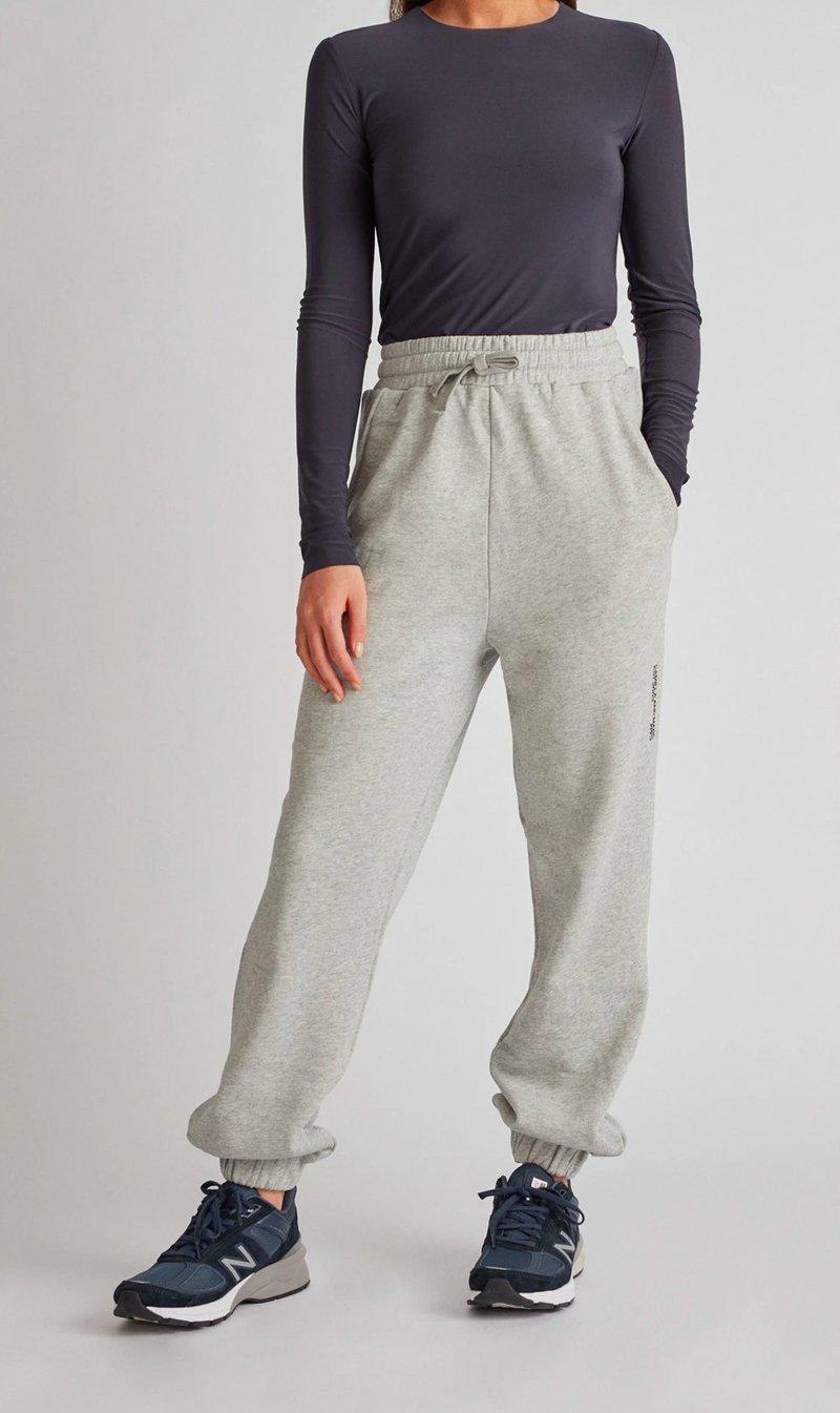 Camilla and Marc Womens Pants C&M | Jordan High Waisted Trackpant - Grey Marle