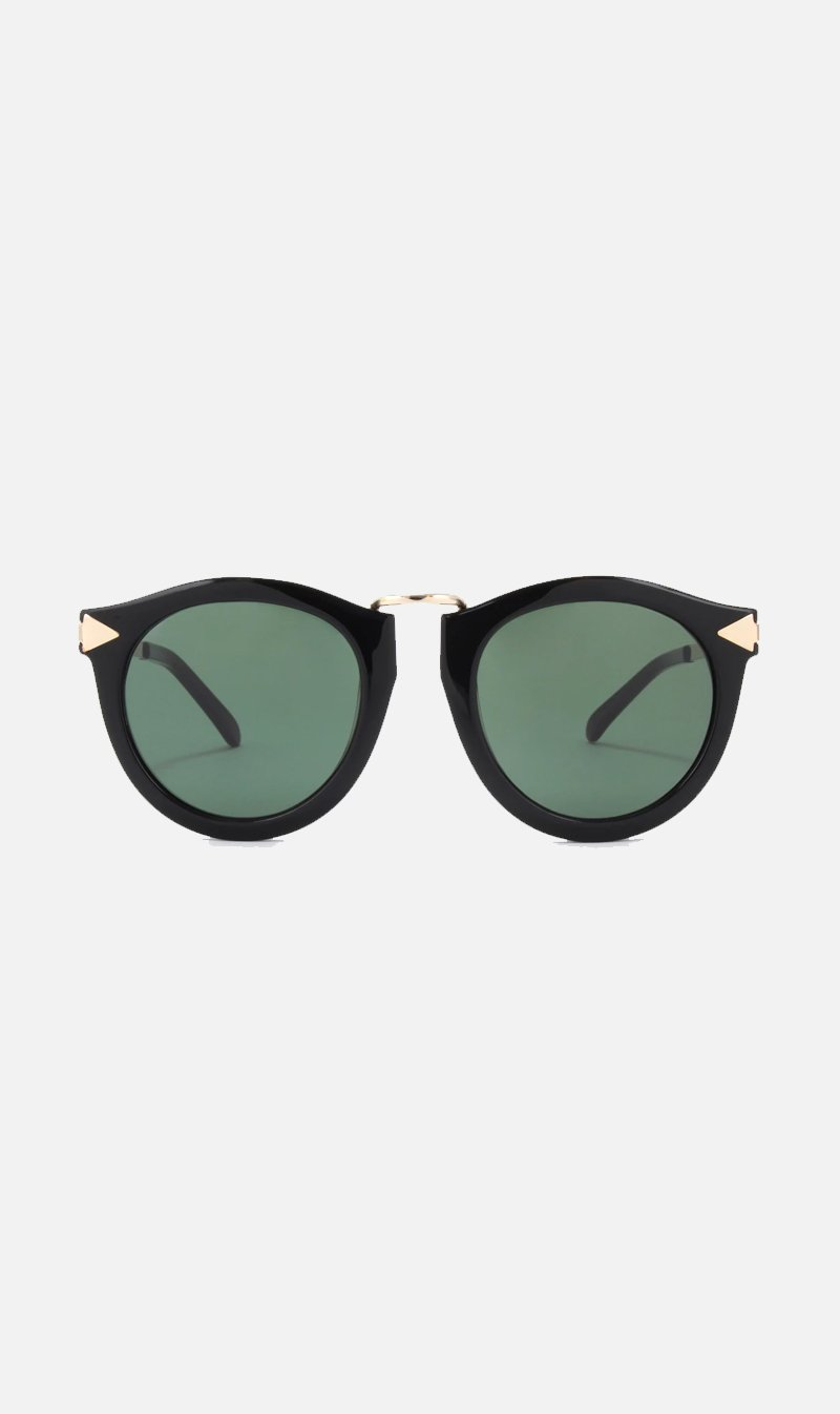 SUNSHADES EYEWEAR NZ Eyewear BLACK Karen Walker | Harvest Sunglasses - Black