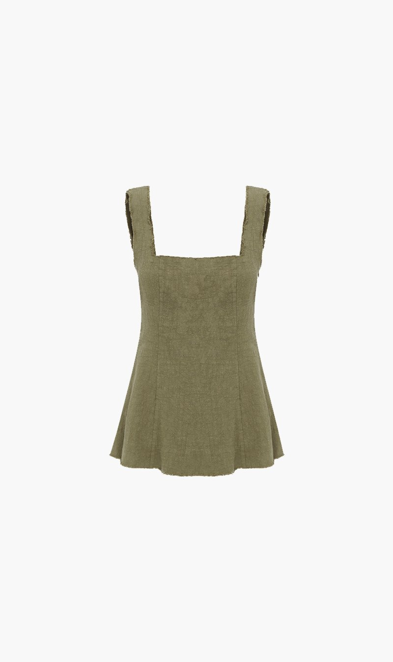 The Market Limited Womens Tops Marle | Hudson Top - Khaki