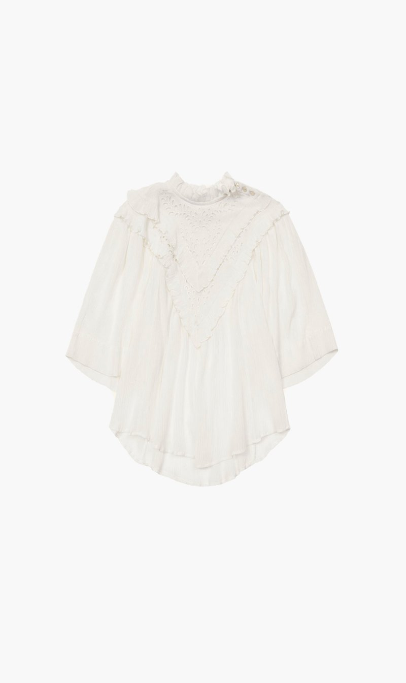 Isabel Marant Womens Tops Isabel Marant Etoile | Idoa Top - White