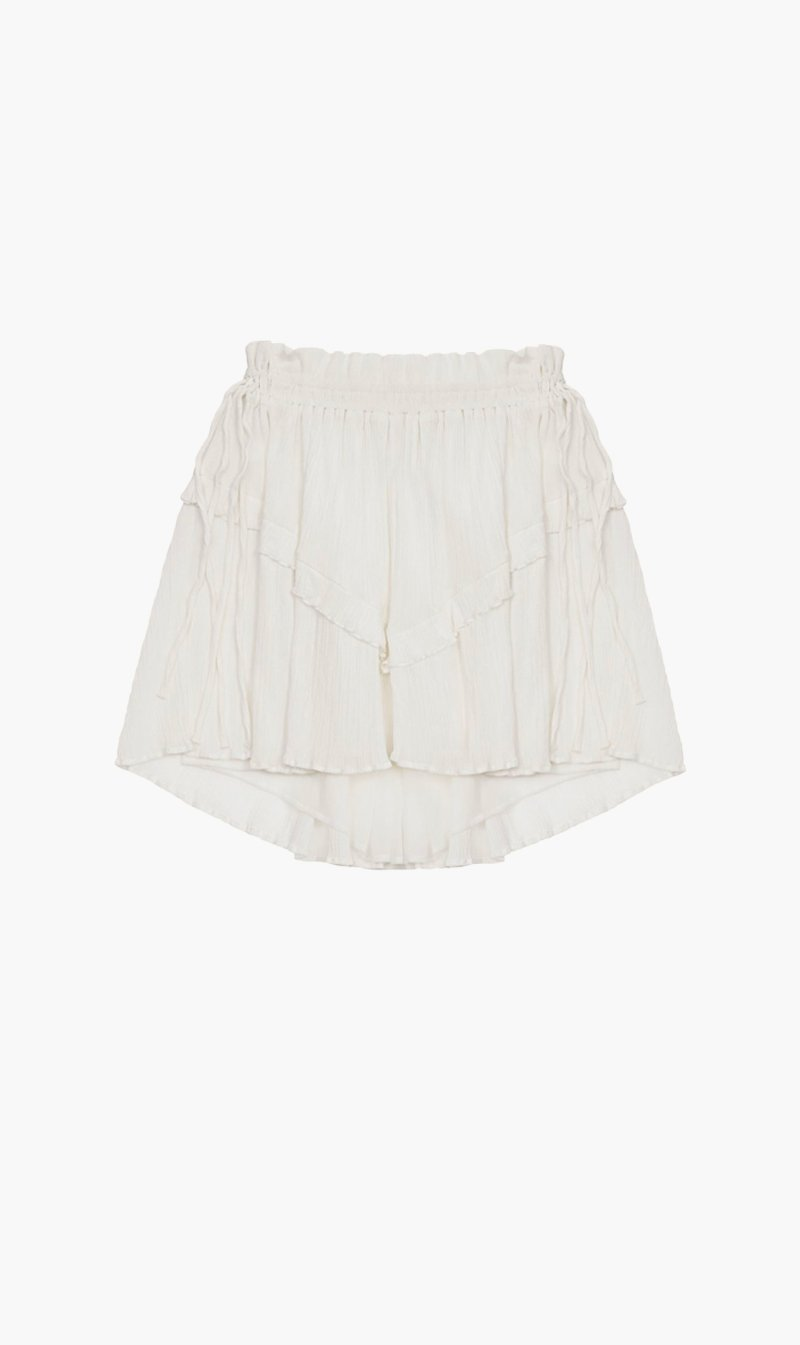 Isabel Marant Womens Skirts Isabel Marant Etoile | Itelo Skirt - White
