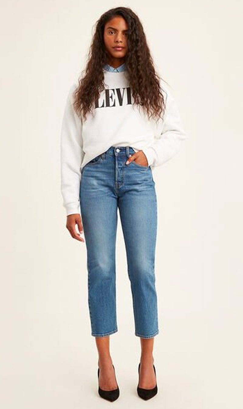 LEVI STRAUSS (NEW ZEALAND) LTD Womens Jeans Levi's | Wedgie Straight - Jive Sound