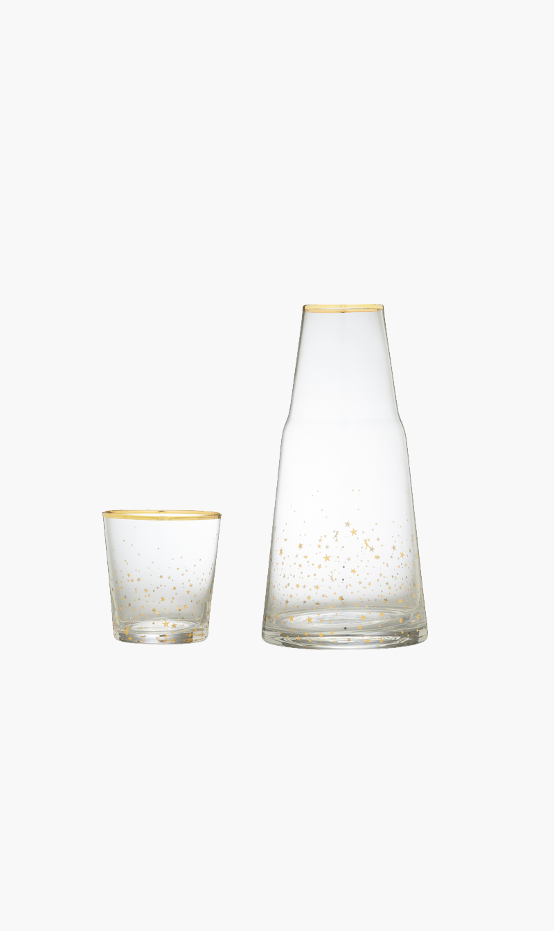 KAREN WALKER Homeware GOLD Karen Walker | Carafe and Glass Set - Gold