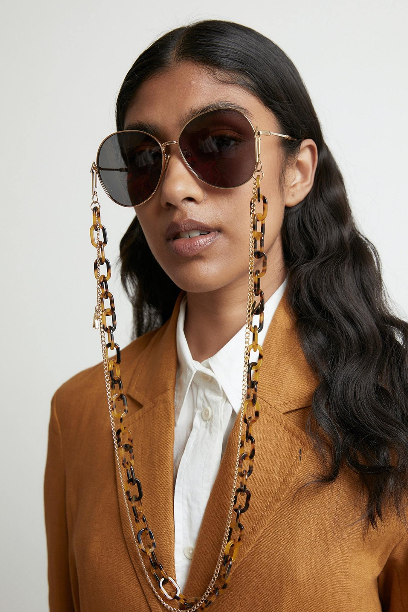 SUNSHADES EYEWEAR NZ ACC CRAZYTRT Karen Walker | Double Eyewear Chain - Crazy Tort