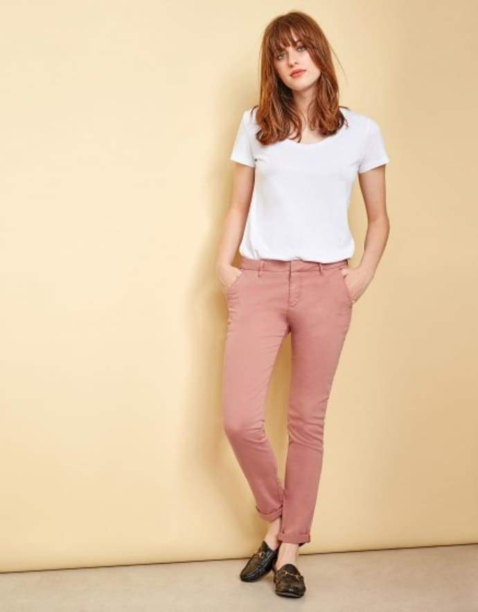 Higgovale Holdings Pty Ltd Womens Pants Reiko | Sandy Basic Chino - Old Rose