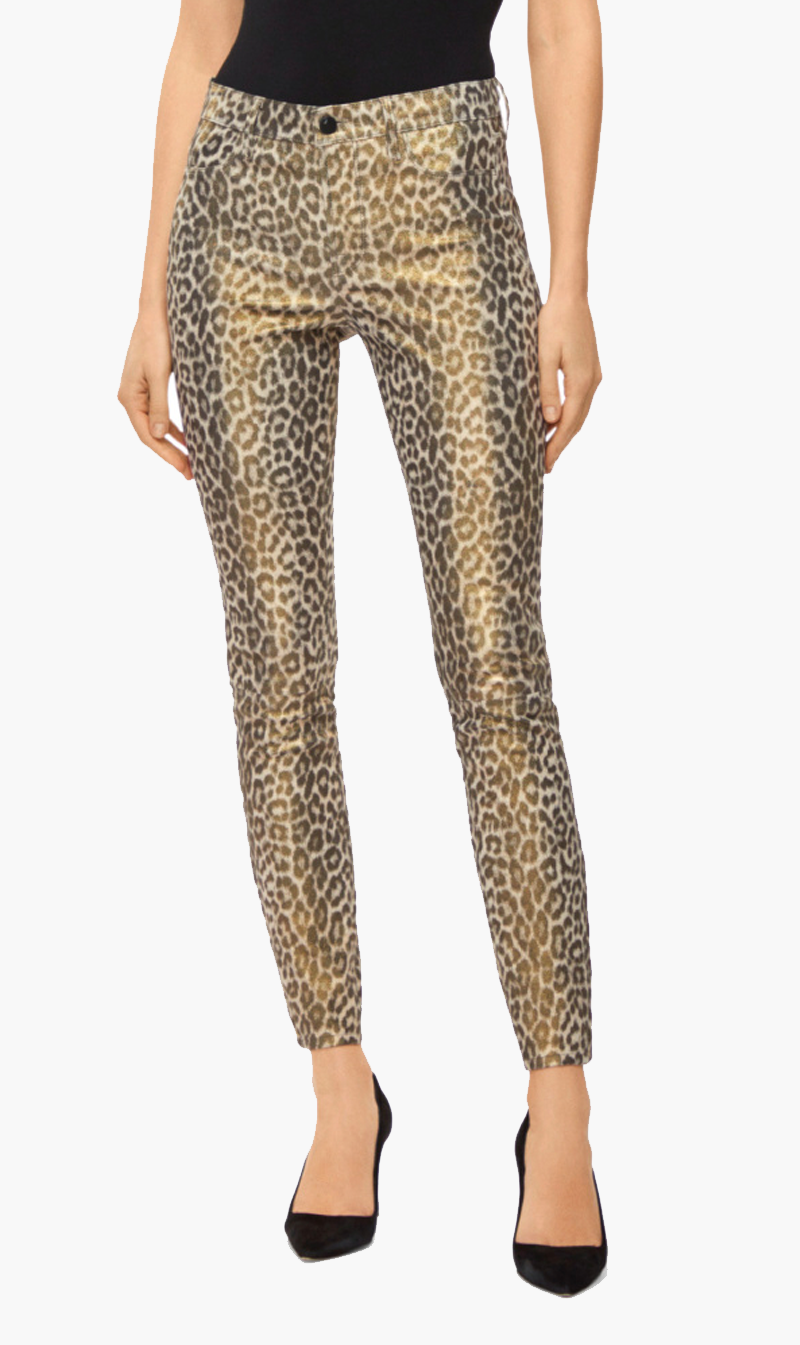 Edwards Imports Ltd Womens Pants J Brand | Leather Skinny Pant - Jaguar