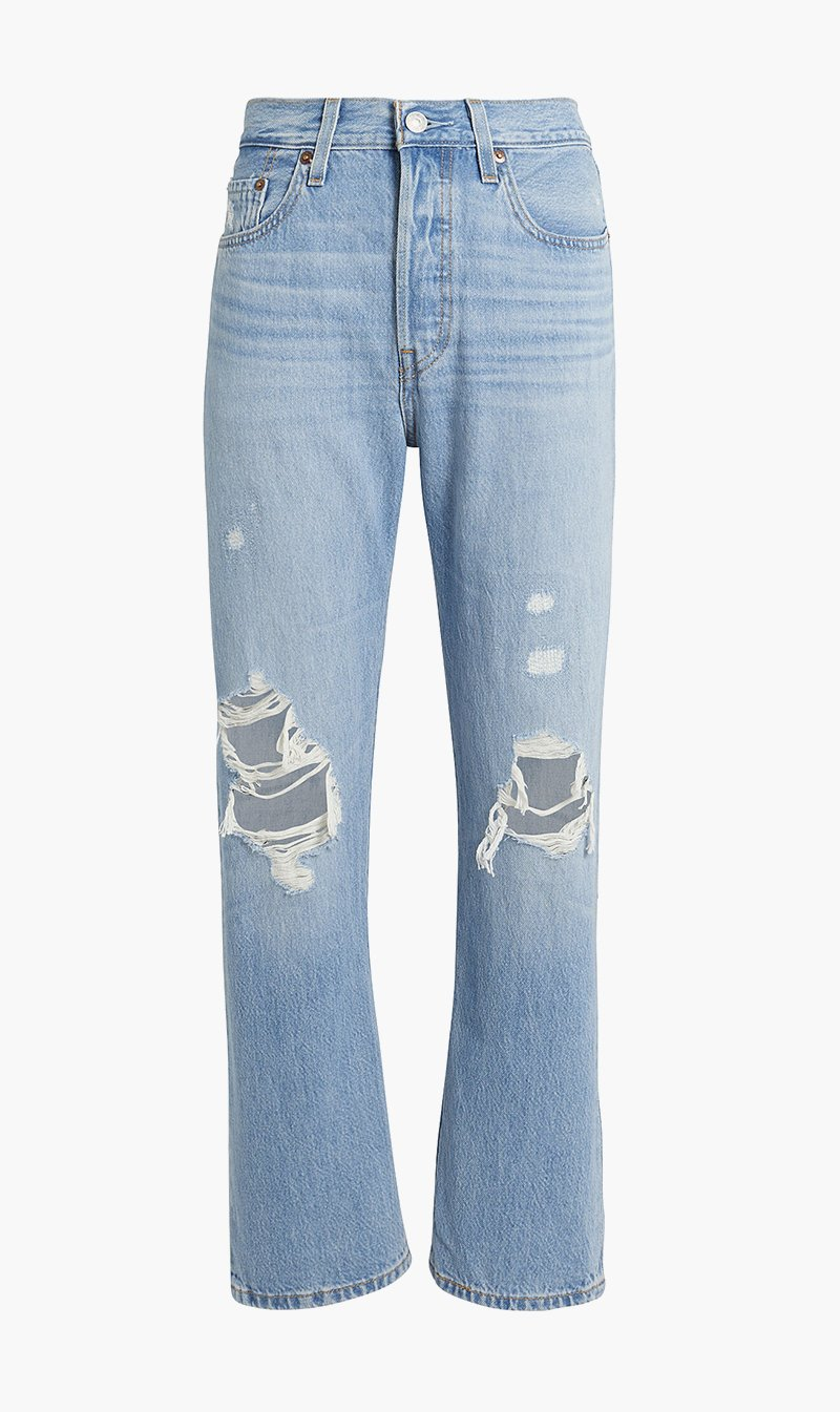 LEVI STRAUSS (NEW ZEALAND) LTD Womens Jeans Levi's | 501 Crop Jeans - Montgomery Patch
