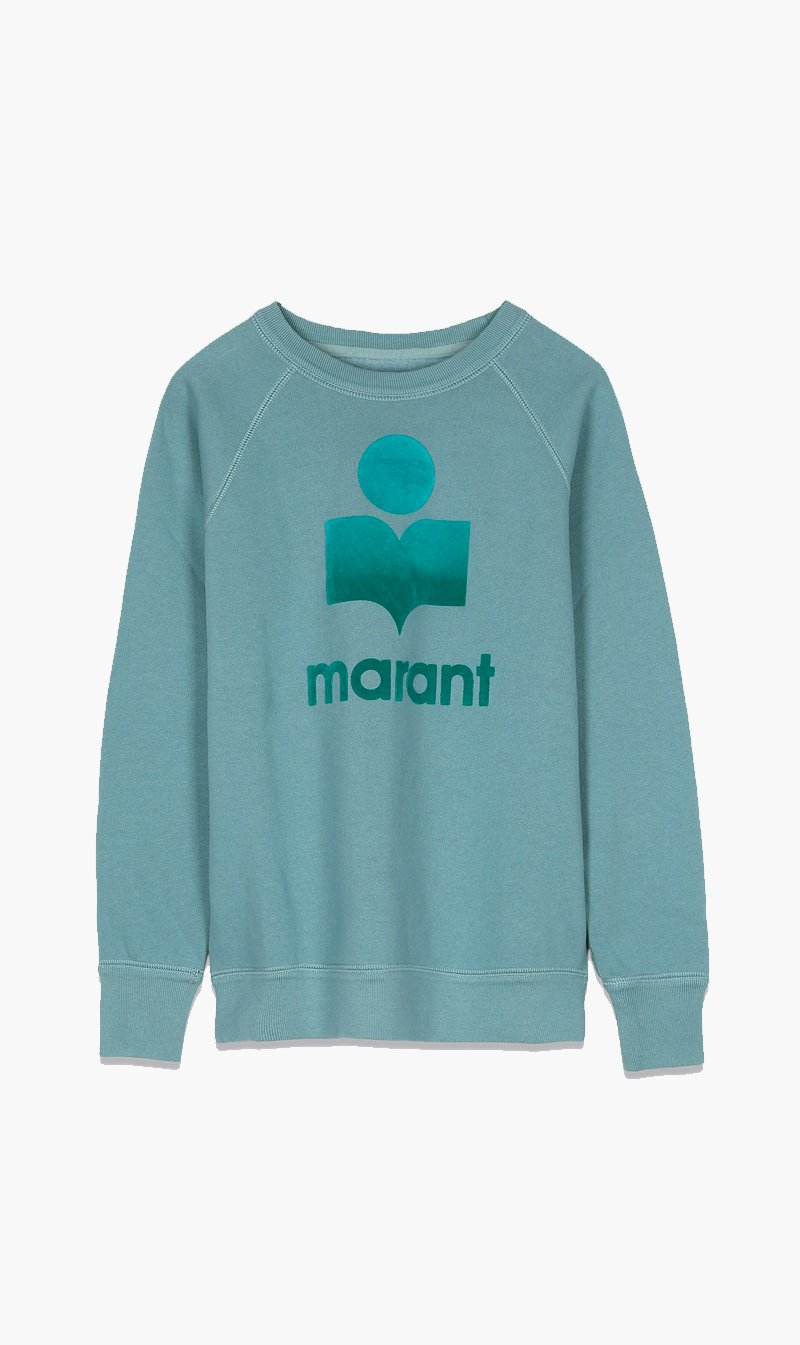 Isabel Marant Womens Tops Isabel Marant Etoile | Milly Sweatshirt - Light Petrol
