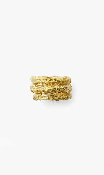 Love & Object Jewellery Gold Olympia By Love & Object | Allegria Stacker Ring - Gold