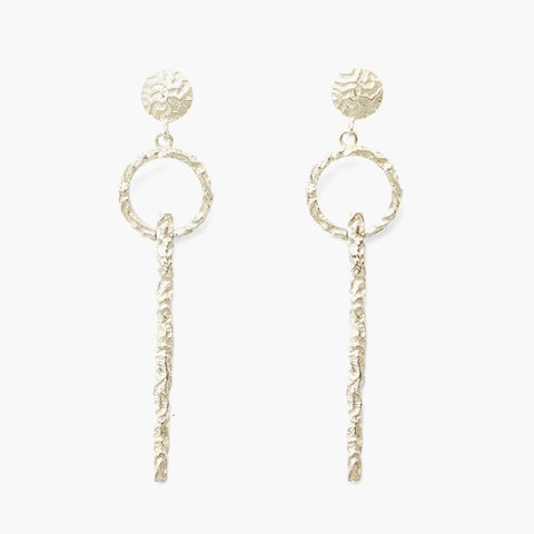 Olympia By Love & Object | Adona Keyhole Earrings - Silver