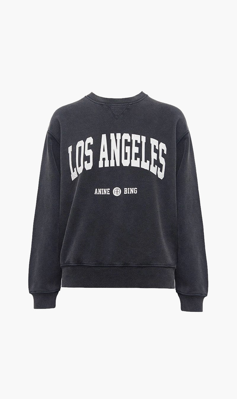 Anine Bing Womens Tops Anine Bing | Ramona Sweatshirt Los Angeles - Washed Black