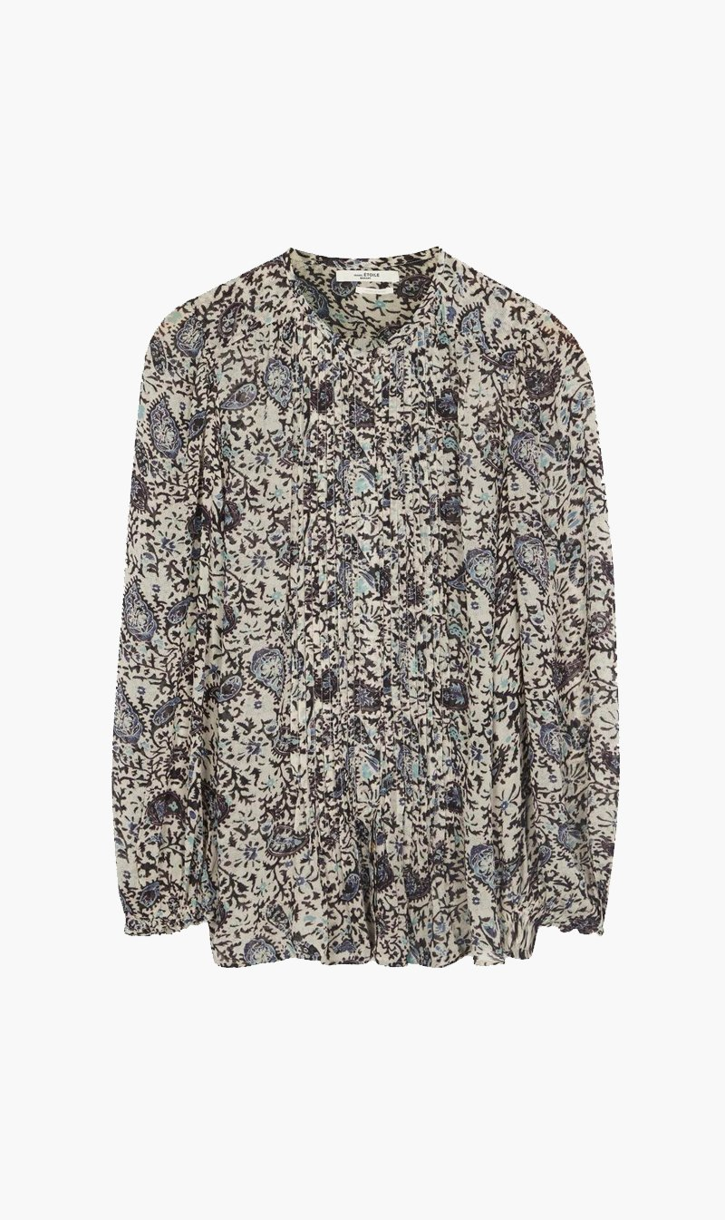 Isabel Marant Womens Tops Isabel Marant | Nastia Blouse - Chalk