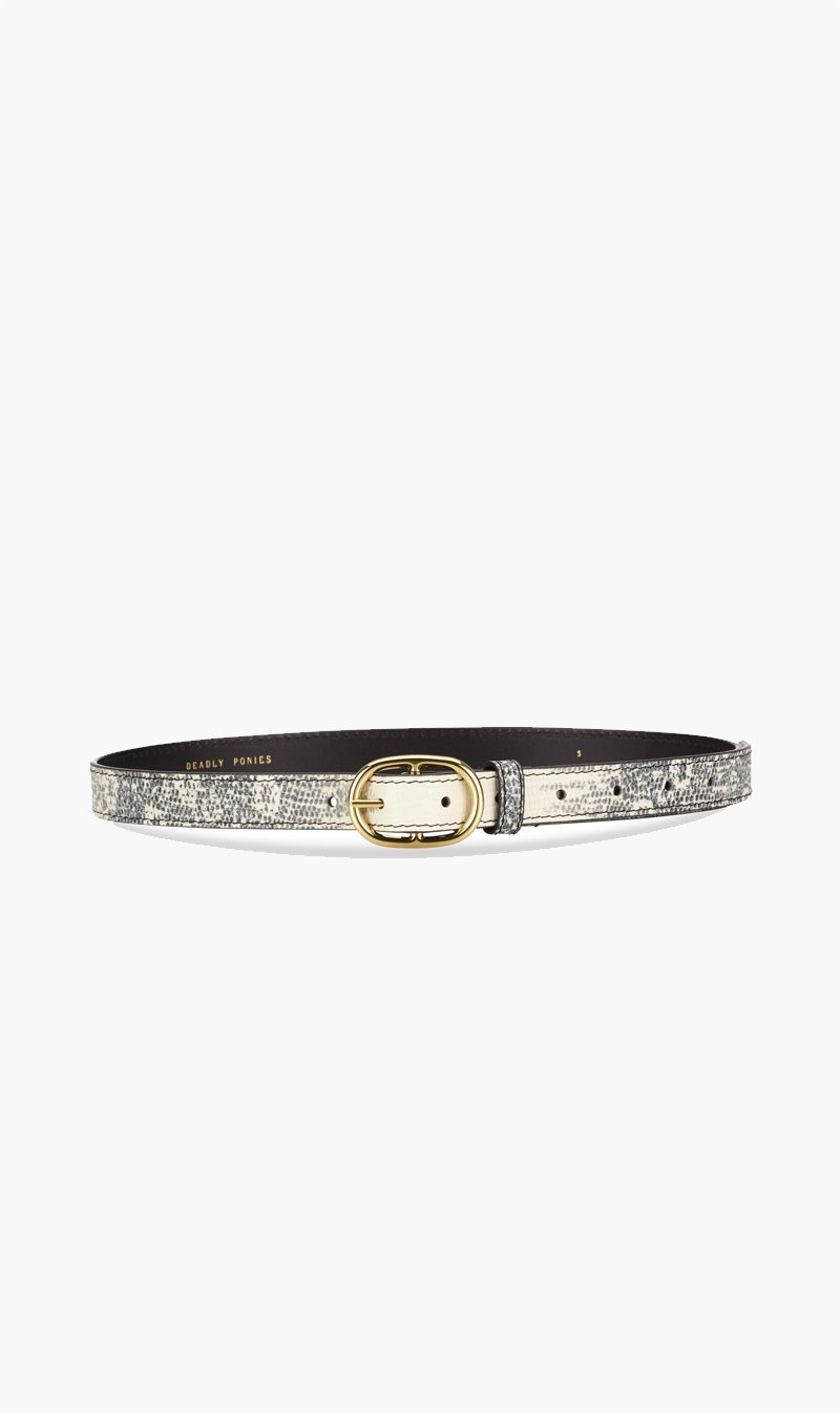 DEADLY PONIES ACC Deadly Ponies | Midi Belt - Lizard Natural