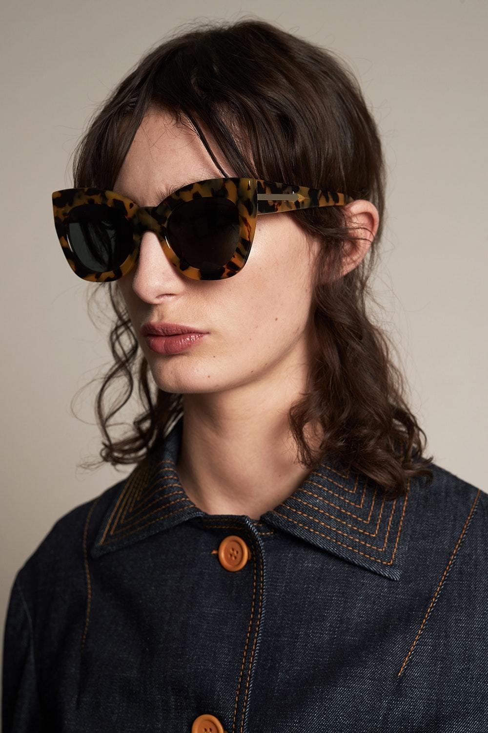 SUNSHADES EYEWEAR NZ Eyewear CRAZY TORT Karen Walker | Northern Lights Sunglasses - Crazy Tort