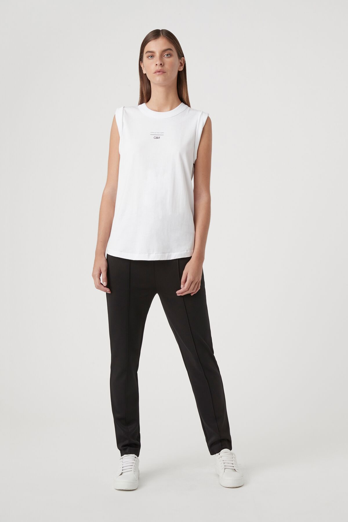 Camilla and Marc Womens Singlet C&M | Agnes Tank - White