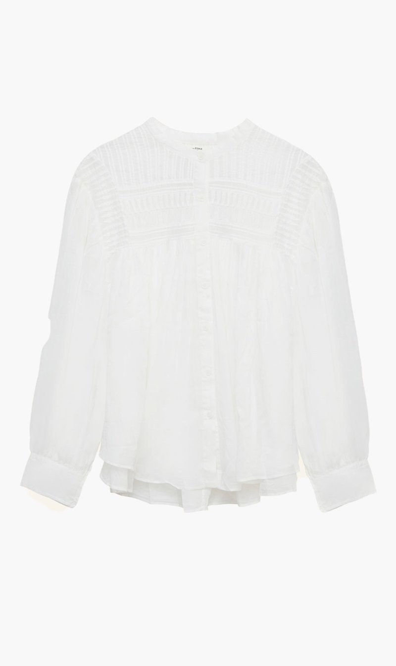 Isabel Marant Womens Tops Isabel Marant Etoile | Plalia Top - White