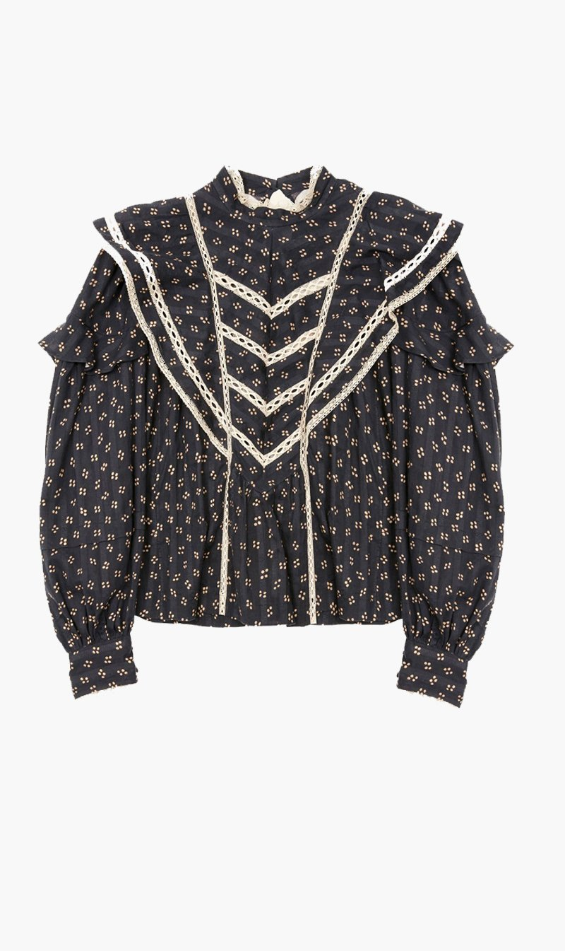 Isabel Marant Womens Tops Isabel Marant Etoile | Reign Top - Black