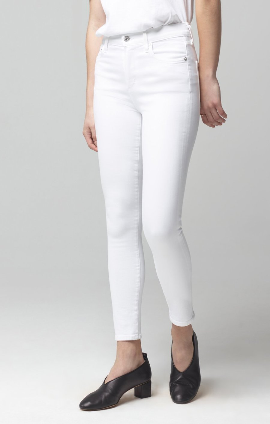Citizens of Humanity Womens Jeans Citizens of Humanity | Rocket Crop Mid Rise Skinny - White Sculpt