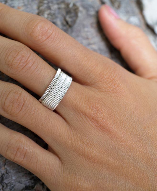Zoe & Morgan | Secure Stacker Ring - Silver