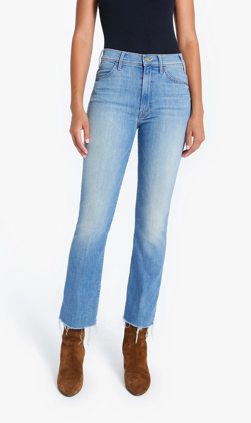 Edwards Imports Ltd Womens Jeans Mother Denim | The Hustler Ankle Fray - Shaken Not Stirred
