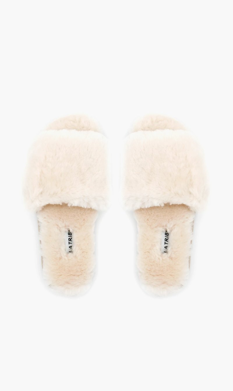 Summer Supply Ltd SHOE La Tribe | Sheepy Slipper - Cream
