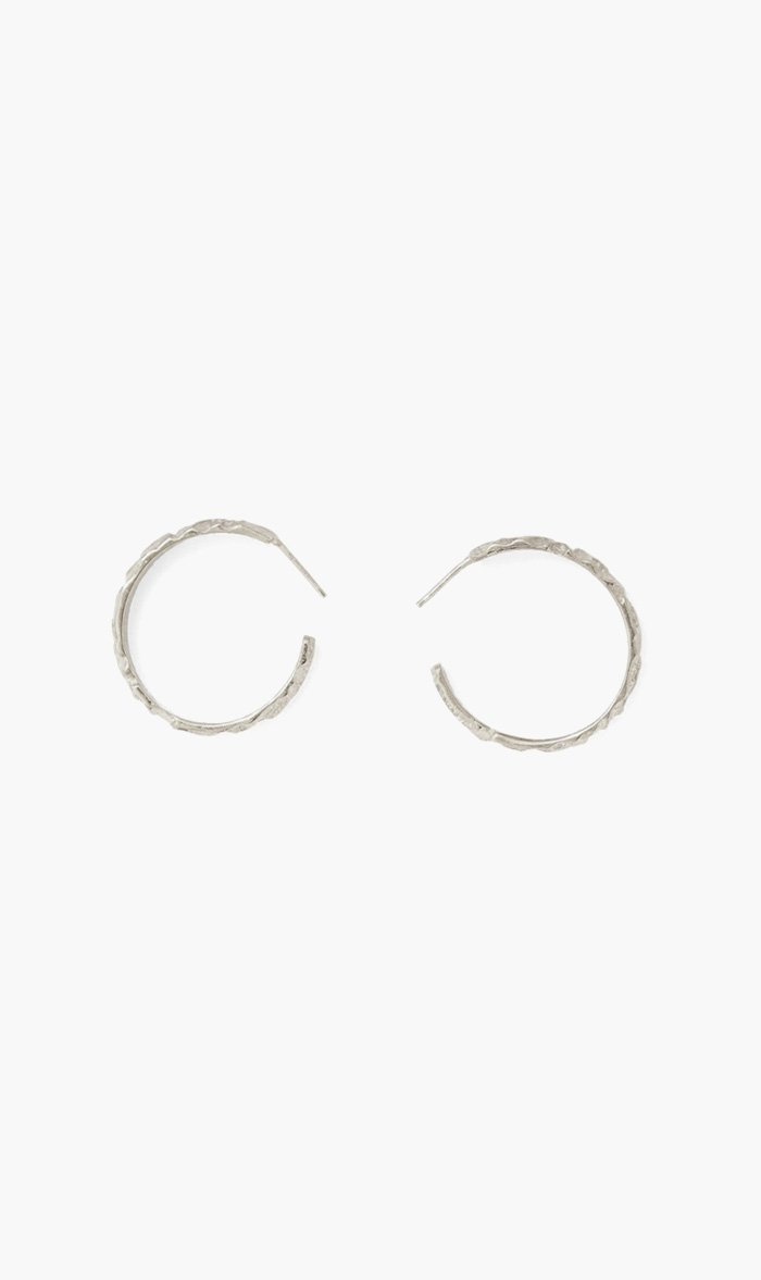 Love & Object Jewellery SILVER Olympia By Love & Object | Aria Hoop Earrings - Silver