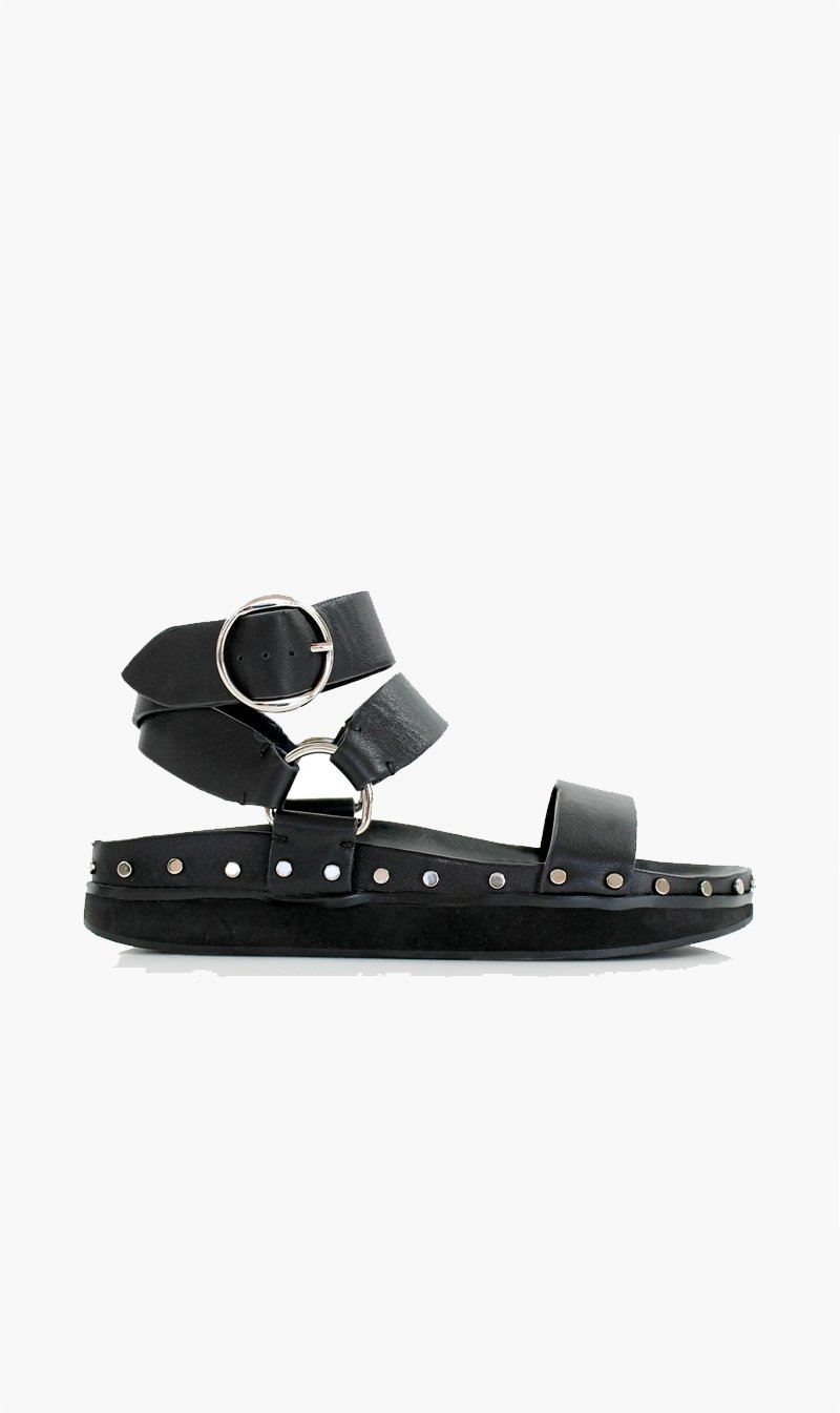 Summer Supply Ltd SHOE La Tribe | Studded Sandal - Black/Silver