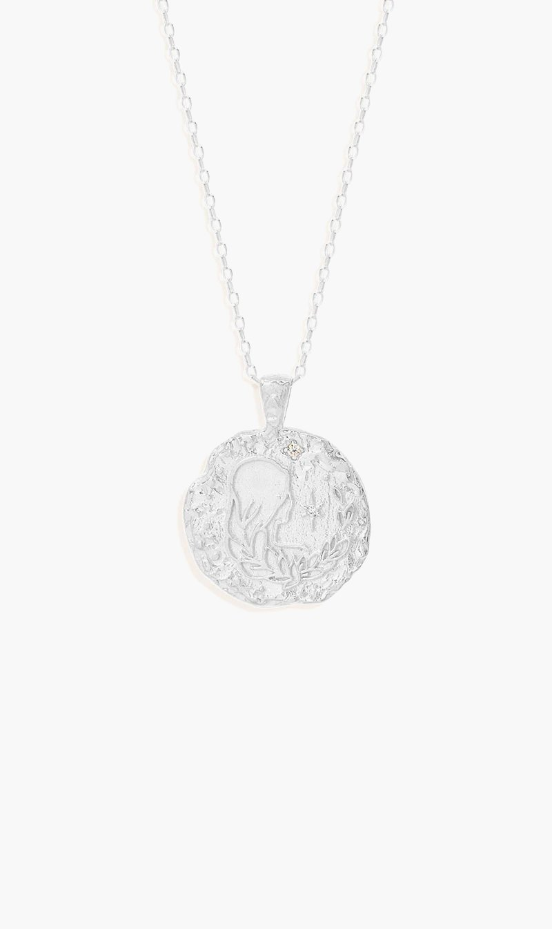 By Charlotte Jewellery SILVER By Charlotte | Virgo Zodiac Necklace - Silver