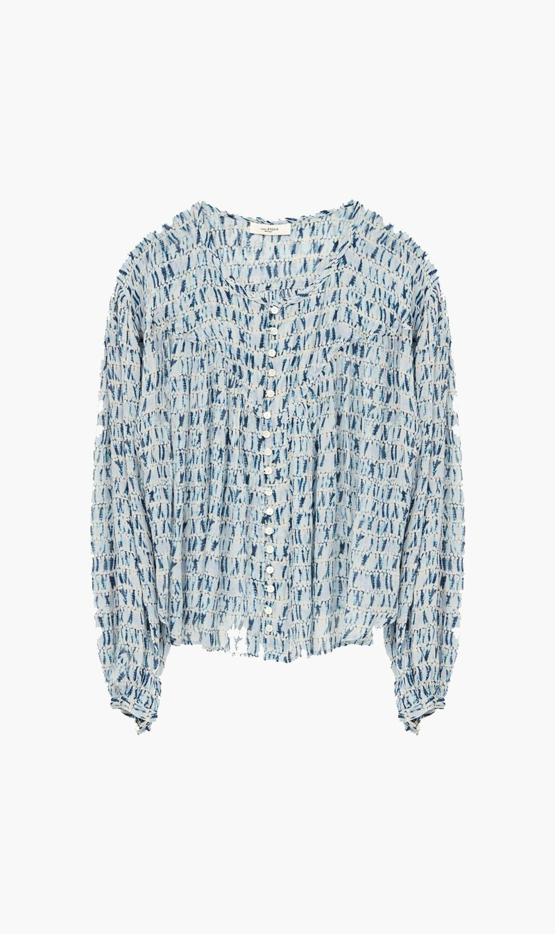 Isabel Marant Womens Tops Isabel Marant Etoile | Sorionea Top - Blue