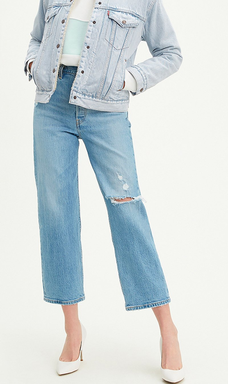 LEVI STRAUSS (NEW ZEALAND) LTD Womens Jeans Levi's | Ribcage Straight Ankle - Tango Fade